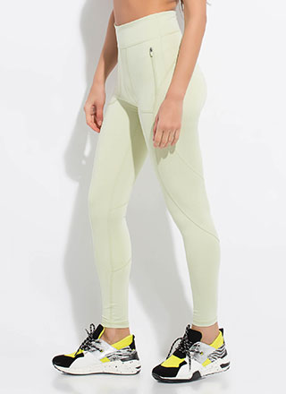 Zip Thru My Workout Pocketed Leggings