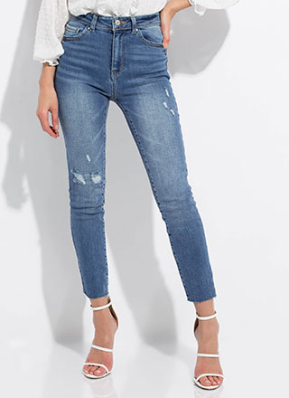 Stress-Free Distressed Skinny Jeans