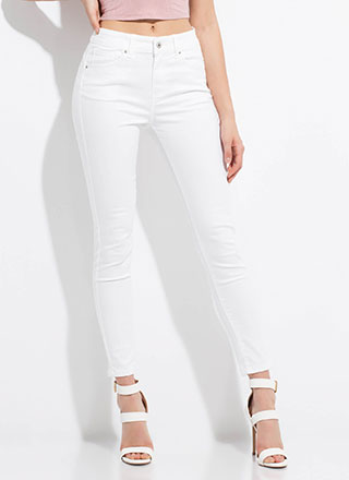 Peach Me A Lesson Butt-Lift Skinny Jeans