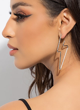 Fast As Lightning Bolt Earrings