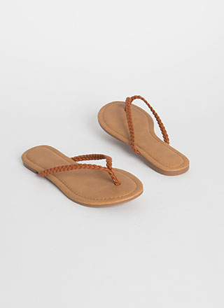Cute Flip-Flops Braided Thong Sandals
