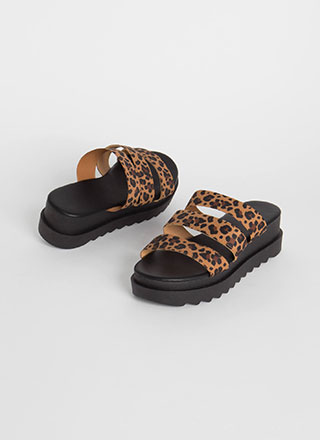 My Favorite Bands Platform Slide Sandals
