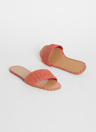 Take Me Woven Tapestry Slide Sandals