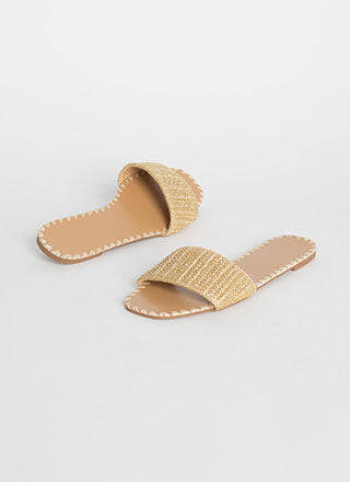 Take Me Basketwoven Slide Sandals