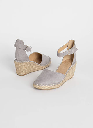 Vacay Ready Stitched Espadrille Wedges