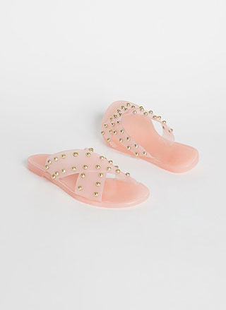 Dome Sweet Dome Studded Slide Sandals