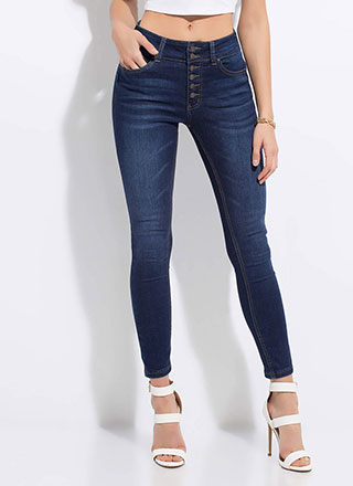 No Buts Button-Fly Butt-Lift Jeans