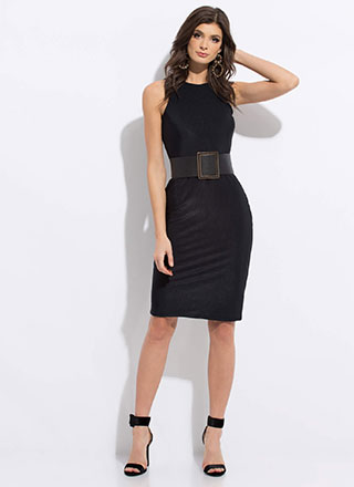 Beautiful Basic Ribbed Midi Dress
