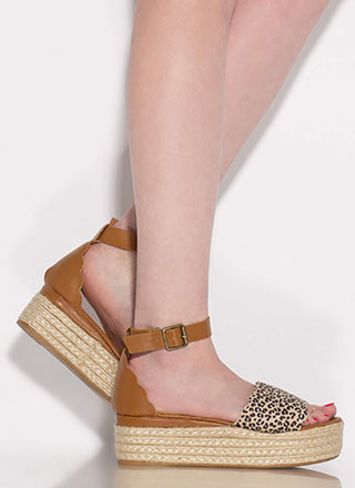 On Safari Leopard Platform Sandals