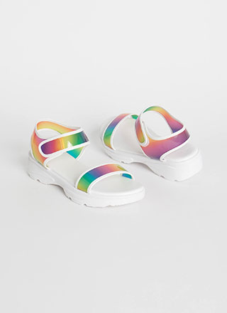 Sport The Rainbow Ombre Sandals