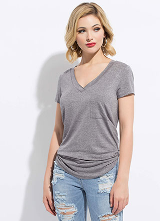Light And Casual Flared Pocket Tee