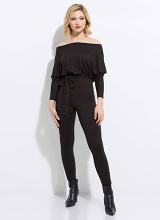 Comforts Of Life Tied Dolman Jumpsuit