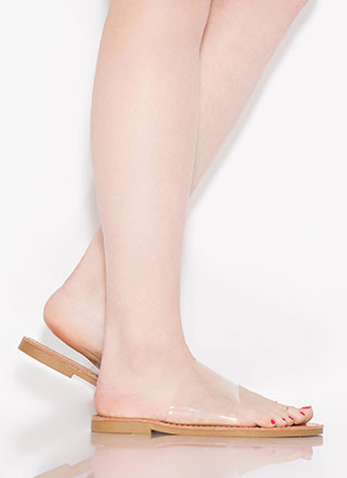 Pedi Behavior Clear Strap Jelly Sandals