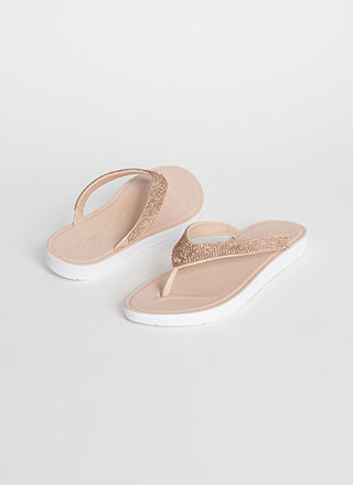 Glitter And Gems Jeweled Thong Sandals