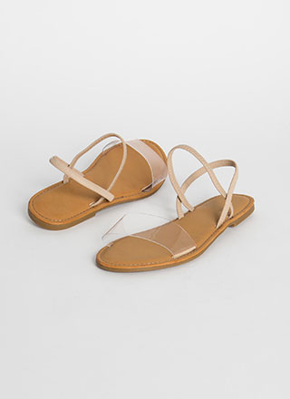 Waterfront Slip-On Clear Strap Sandals