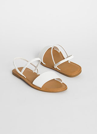 Waterfront Strappy Faux Leather Sandals