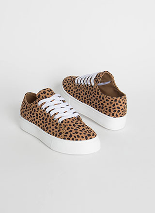 On The Prowl Cheetah Platform Sneakers