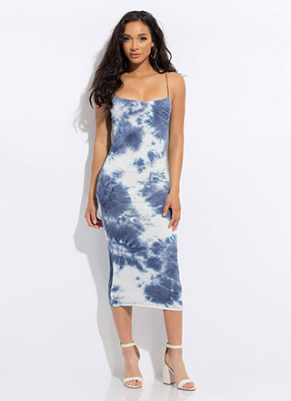Head In The Clouds Tie-Dye Dress