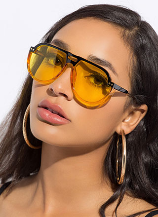 Sport These Cut-Out Aviator Sunglasses