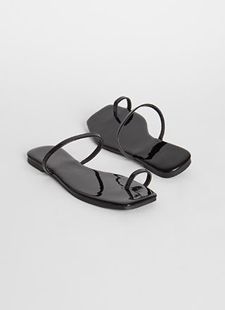 Sun's Out Toes Out Skinny Strap Sandals