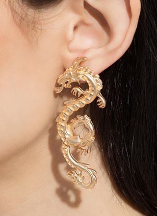Year Of The Dragon Slayer Earrings