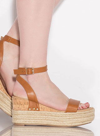 Travel Bug Braided Platform Wedges