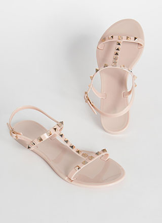 Extra Edge Strappy Studded Sandals