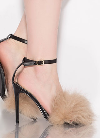 Powder Puff Girl Faux Fur Heels
