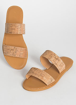 It's Only Natural Cork Slide Sandals