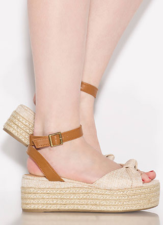 Knot At Work Braided Linen Wedges
