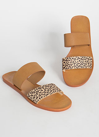 Animal Lover Leopard Slide Sandals
