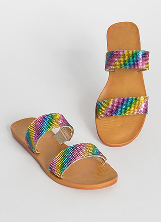 Jewel Collector Rainbow Slide Sandals