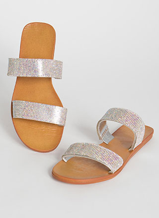 Jewel Collector Rhinestone Slide Sandals