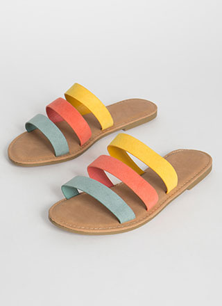 Count To 3 Strappy Slide Sandals