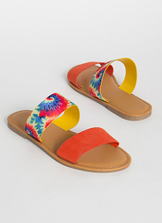 Two Cute Tie-Dye Slide Sandals