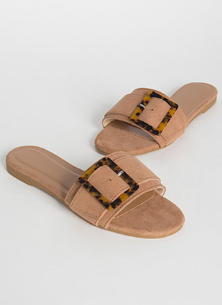 Luxe Leisure Buckled Slide Sandals
