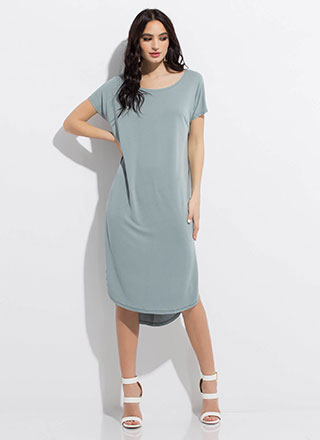 Shift Happens Midi Shirt Dress