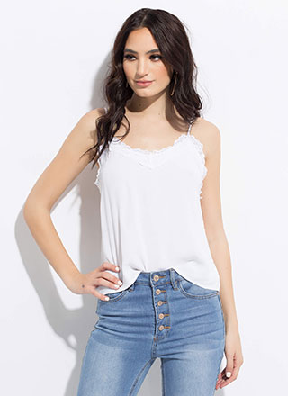 Live-In Cami Lace Trim Tank Top