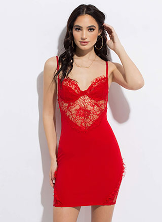 Hot Nights Netted Lace Minidress