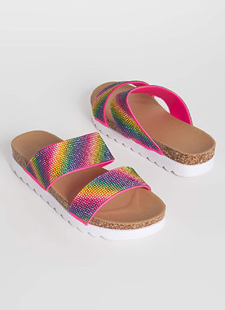 Double Rainbow Jeweled Platform Slides