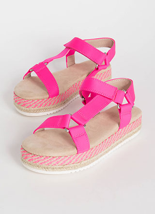 Harness Your Luck Woven Platform Sandals