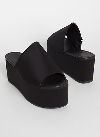 Slide Into My Platform Wedge Sandals