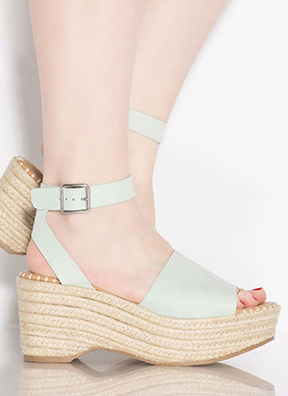 Boardwalk Braided Faux Suede Wedges