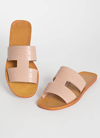 Crocodile Cool Cut-Out Slide Sandals