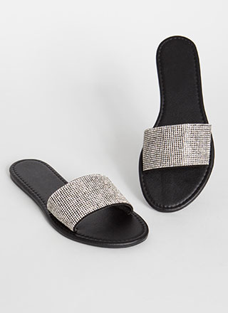 Slides That Sparkle Rhinestone Sandals