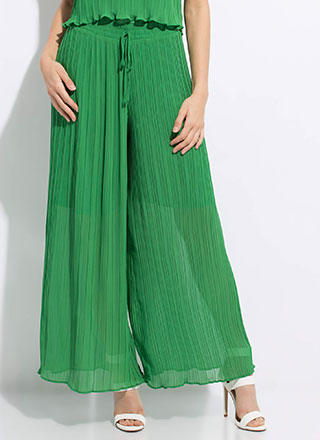 Pretty Pleats Extra Wide Palazzo Pants