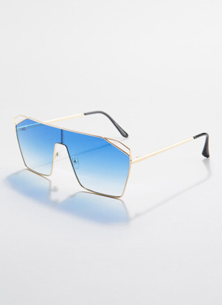 Corner Office Cut-Out Sunglasses