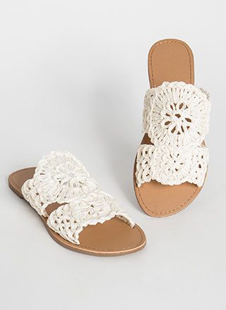 In The Loop Braided Raffia Slide Sandals