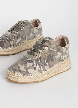 Cool Combat Braided Camo Sneakers