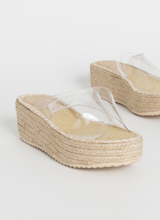 Weekend Getaway Braided Wedge Sandals